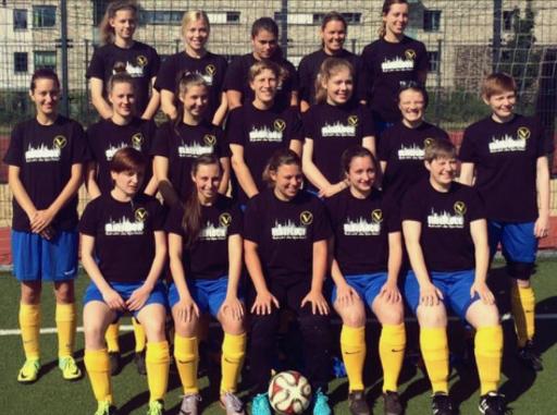 SC Victoria Frauen Teamshirts Sponsor Elbeflock