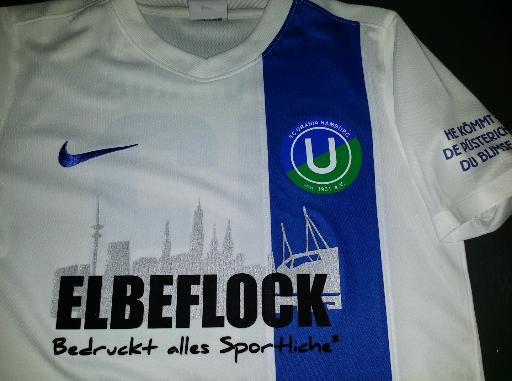 SC Urania Trikotbeflockung Sponsor Elbeflock