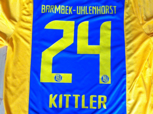 Barmbek-Uhlenhorst Trikotbeflockung mit Nummer im Logo