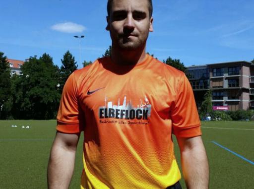 VfL Hammonia Torwarttrikot Sponsor Elbeflock