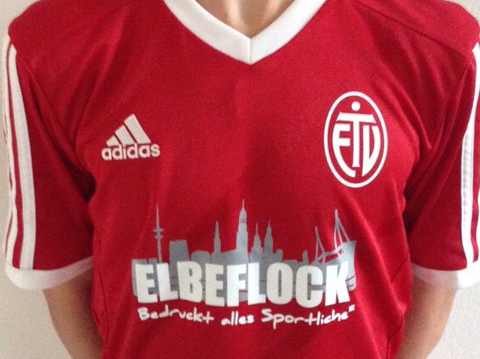 ETV Trikotdruck Sponsor Elbeflock