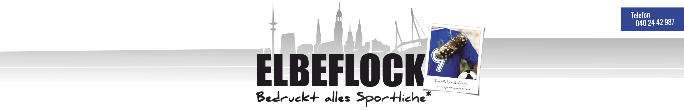 ELBEFLOCK Bedruckt alles Sportliche